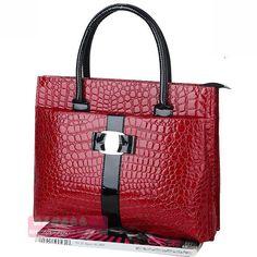 Crocodile Vintage Clutch Leather Handbag