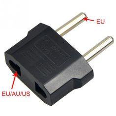 10pcs Portable US to EU Europe Plug Travel Wall AC Power Electrical Socket Converter Universal Transform Plug Adaptor CH005