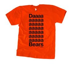 Da Bears T-shirt. O Chris Farley you will be missed. -Marge