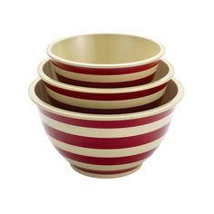 Paula Deen Signature Pantryware 3-Piece Melamine Mixing Bowl Set, Red Stripe * Discover this special deal, click the image : Mixing bowls baking