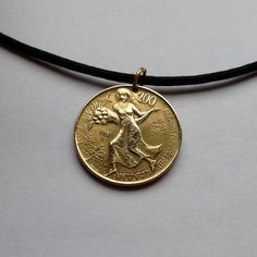 1981 Italy 200 Lire coin pendant charm necklace jewelry FAO World Food Day Italian Lady girl cornucopia abundance Rome building No.000628 by acnyCOINJEWELRY on Etsy