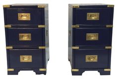 +Night st Campgn nu pnt 10x18x24 sold $1295wg  ...  Campaign-Style Nightstands, Pr