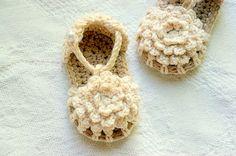 CROCHET PATTERN #101 - PDF Instant Download - Crochet Baby Shoe Pattern - Simply Summer Sandals - Baby Sandal Pattern - girl and boy version