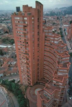 Torres del Parque, Bogota, Colombia Home Building Design, Brick Architecture, Colombia Travel, Brutalist, Beautiful Buildings, Beautiful World, South America, Around The Worlds, Places To Visit
