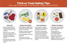 Enjoy a night of spooky fun this Halloween with these trick or treat safety tips, brought to you by HERSHEY.