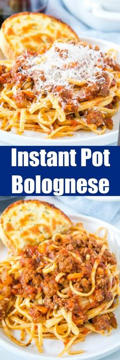 Instant Pot Bolognese - make Italian style bolognese sauce in the Instant Pot. So rich and delicious and ready in a fraction of the traditional recipe!