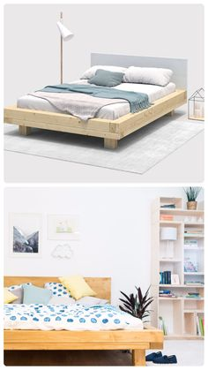 Trendy DIY Making a Pallet Bed Projects Try these pallet bed frame ideas to Inspire your daily pallet wood recycling to make easy pallet projects! Try to get free pallets to make your bed! Home Furniture Shopping, Local Furniture Stores, Diy Home Furniture, Diy Furniture Projects, Online Furniture, Pallet Projects, Diy Pallet Bed, Pallet Wood, Diy Wood