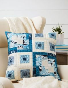 Beautiful Blues Pillow