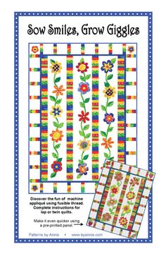 Patterns and supplies for quilters and fabric lovers: Shop | Category: Patterns by Annie | Product: Sow Smiles, Grow Giggles