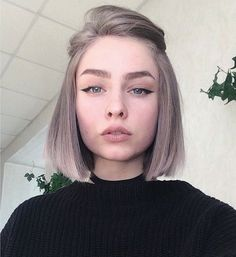 New Fashionable Bob Hairstyles to Inpire Your Next Cut - ., frisuren frauen New Fashionable Bob Hairstyles to Inpire Your Next Cut - . Cute Hairstyles For Short Hair, Girl Short Hair, Bob Hairstyles, Curly Hair Styles, Formal Hairstyles, Bob Haircuts, Short Hair Girls, Cute Short Hair, Short Hair Cuts For Women Bob