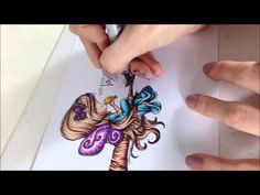 Copic Tutorial - Colouring Wood, Branches, and Trees - YouTube