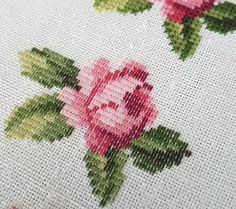 Roland-designs.: Small rose. Free cross stitch pattern - Part 2 Short, long stitch