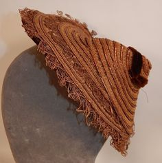 Victorian 1870s Antique Natural Straw Woven Womens Wide Brim Bonnet Hat Vintage | eBay