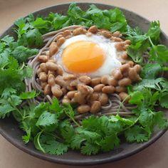 Natto Soba Noodles Salad, Japanese Food