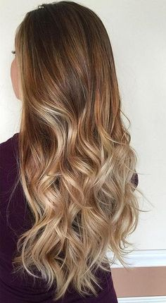 brown blonde ombre hair