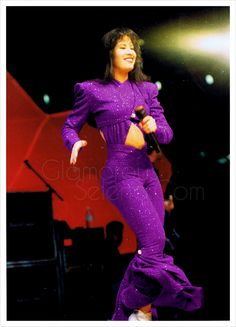 a1be8c9b66e1 Selena At The Houston Astrodome 1995 in the famous Purple Jumpsuit!