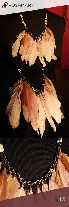 New Beautiful BoHo Tribal Feather Necklace Brand New Boho Tribal  Feather Necklace  Never Worn  Very Beautiful Piece  FREE GIFT WITH PURCHASE TRIBAL Jewelry Necklaces