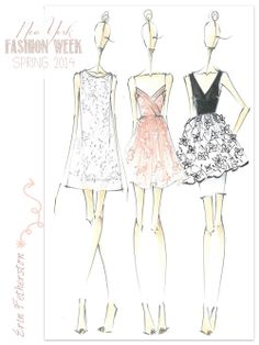 Designer Sketches from NY Fashion Week (Spring 2014) on Fabulous Doodles. Erin Featherston