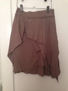 Xhiliration light brown cotton jersey skirt, size small