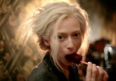 Tilda Swinton with a blood ice cream in Only Lovers Left Alive (Jim Jarmush, 2013)