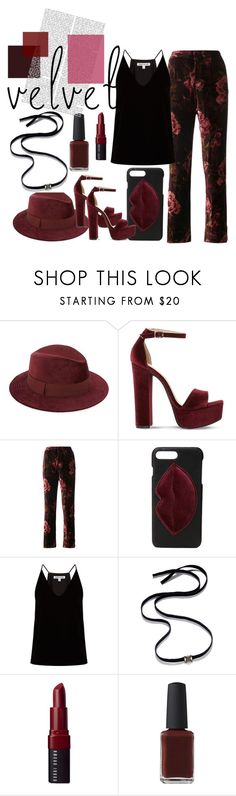"""Velvet"" by tia2 ❤ liked on Polyvore featuring Saks Fifth Avenue, Steve Madden, F.R.S For Restless Sleepers, Kendall + Kylie, Elizabeth and James, INC International Concepts, Bobbi Brown Cosmetics and Kester Black"