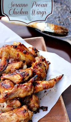 Sesame Pecan Chicken Wings Recipe Game Day Appetizer