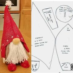 Christmas gnome diy tutorials - check out these 13 Scandinavian gnomes tutorials to make diy Scandinavian christmas decor. They are also called nisse or tomte Christmas Gnome Ornaments - A Quick, Adorable Craft Swedish Gnome Kids (Boy or Girl) Scandi Christmas Sewing, Christmas Gnome, Diy Christmas Gifts, Christmas Projects, Christmas Decorations, Christmas Ornaments, Merry Christmas, Rustic Christmas, Christmas Ideas