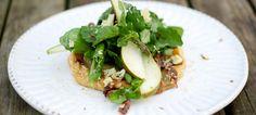 Pear, Binham Blue and Walnut Tart