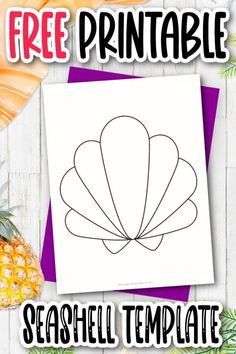 Are you looking for a fun way to invite guests to a beach party? This cut out outline seashell template is just the thing. It also makes the perfect seashell coloring page and with the simple design, you can even print it and put it in the bathroom as decoration! Click and download the free printable seashell template today! Star Template, Templates Printable Free, Free Printables, Printable Star, Ocean Animal Crafts, Sun Crafts, Easy Crafts For Kids, Preschool Crafts, Sea Shells