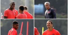 Manchester United players Henrikh Mkhitaryan and Phil Jones miss training ahead of Feyenoord