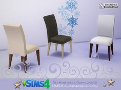 by SIMcredibledesigns.com Found in TSR Category 'Sims 4 Dining Chairs'