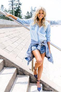 40代になっても若々しくカジュアルに履けるデニムショーパンはおすすめ♪おすすめの40代アラフォー女性のショートパンツ・ショーパンコーデ♪