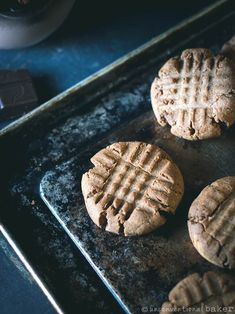 Chocolate Peanut Butter Cookies (Vegan, Gluten-Free, Oil-Free, Refined Sugar-Free) #veganrecipes #peanutbutter