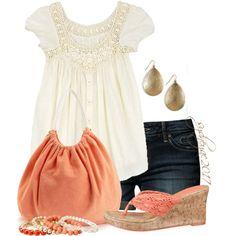 Cream & Coral