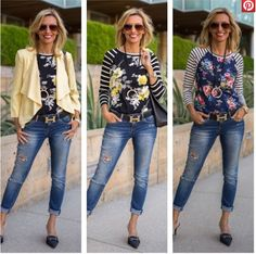 Striped and florals #jacketsociety #linkupwithlisa