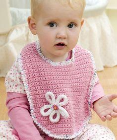 Blossom Bib Crochet Pattern   Red Heart