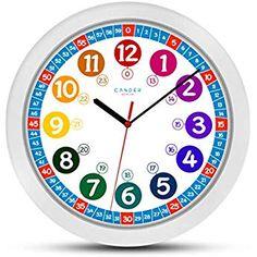 Cander Berlin MNU 1030 Kinderwanduhr (Ø) cm Kinder Wan Green Wall Clocks, White Clocks, Flashcards For Kids, Kids Math Worksheets, Math Clock, 24 Hour Clock, Learn To Tell Time, Math Charts, Diy Clock
