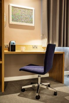 Travelodge SuperRoom - hotel refurbishment framework rolled out across 14 sites by TROY group Refurbishment, New Room, Troy, Chair, Furniture, Home Decor, Restoration, Decoration Home, Room Decor