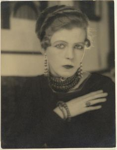 Bright Young Thing: Nancy Cunard by Man Ray. Nancy Cunard could be Cecil Beaton's sister they look so much alike.