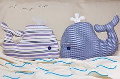 Cómo hacer una ballena de trapo y usar como cojín o muñeco