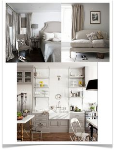 Guide to gray, beige and greige.yes, I said greige Grey And Beige, Warm Grey, Black White, Greige, Decoration Gris, Interior Decorating, Interior Design, Paint Colors For Home, Cabinet Colors