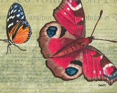 Butterfly Print featuring the painting Le Papillon 1 by Debbie DeWitt