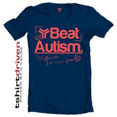 Beat #Autism - Different, but never less T-shirt. #ChangeIsWhatiRoc Get your now! $5 will be donated on your behalf to your choice of charity.