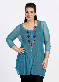 Plus Size Cardigans - Plus Size Shrugs - Plus Size Bolero for Women - SPIDERMESH LONG CARDY - TS14