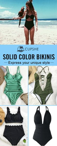 Turn heads at the beach, by the pool or on the boat with bold, solid-colored swimsuits from Cupshe. Our wide selection of colors offers something for everyone! Put on one of our bikinis, and you'll shine brighter than anyone else~