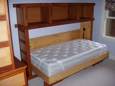 """Outstanding """"murphy bed ideas space saving"""" info is offered on our internet site. Check it out and you wont be sorry you did. Bunk Beds Built In, Bunk Beds With Stairs, Murphy Bed Ikea, Murphy Bed Plans, One Room Apartment, Apartment Therapy, Hideaway Bed, Modern Murphy Beds, Old Beds"""