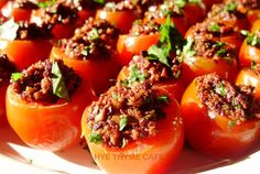 Olive Tapenade Stuffed Cherry Tomatoes