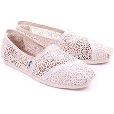 Natural Toms Womens Classic Morocco Crochet ($67) ❤ liked on Polyvore