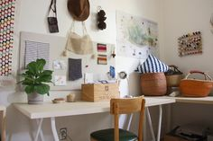 http://www.apartmenttherapy.com/rebeccas-global-territory-house-tour-214461