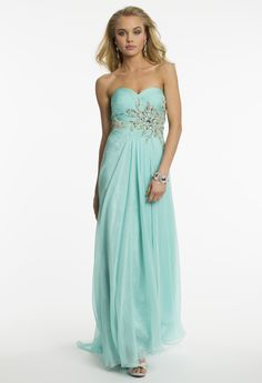 Chiffon and Lace Prom Dress by Camille La Vie
